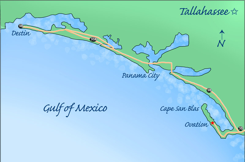 Cape San Blas Florida Map.Welcome To Ashwood Our Locations Ovation On Cape San Blas